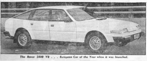 Rover 3500 SD1 Evan Green Road Test 14-1-1979 Title Photo