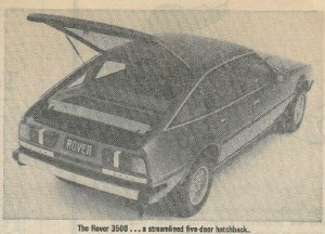 SMH Rover 3500 Launch Article 15-1-1979 Title Photo