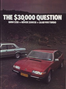 Wheels April 1982 Road Test Comparison BMW 528i Rover 3500SE Saab 900 Turbo intro page 2