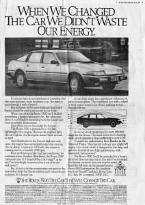 DSC_0051a Rover 3500 SD1 Ad SMH 31-7-1979 (bw)