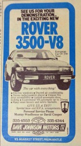 DSC_0054 Rover 3500 SD1 Advertisement RAC WA The Road Patrol Magazine February 1979