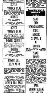 Rover Ads Brents etc The Age 22-6-1983 Part 1