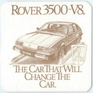 Rover SD1 Drink Coaster Australia 1979