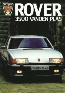Rover 3500 Vanden Plas NZMC Brochure Cover circa 1986