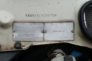 P1080406 1984 Rover Vanden Plas Series 2 Australian Compliance Plate