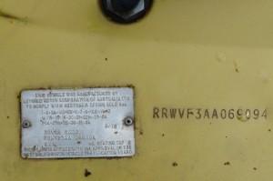 P1080407 1979 Rover 3500 SD1 Series 1 Australian Compliance Plate