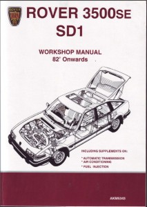 DSC_0006 Rover SD1 Series 2 Repair Operation Manual Soft Cover 1982 Onwards