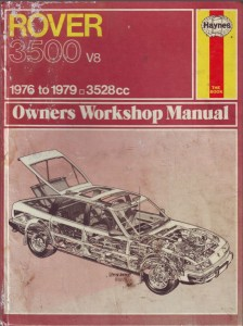 DSC_0007 Rover 3500 SD1 Haynes Workshop Manual 1976 - 1979
