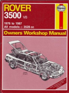 DSC_0009 Rover 3500 SD1 Haynes Workshop Manual 1976 - 1987