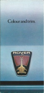 DSC_0001 Rover 2300 2600 3500 V8S Colour Card Cover 1979