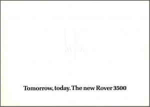 Rover 3500 4-1976 Brochure Cover