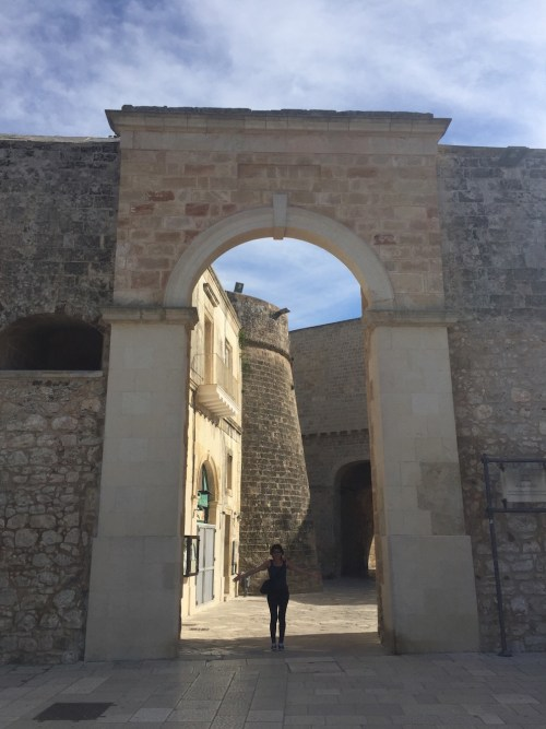 Otranto's huge gate, the entrance to the town centre