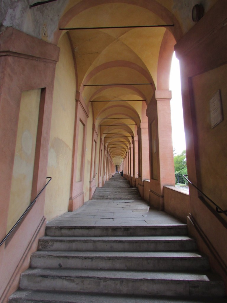 San Luca Porticos and the many steps to the top of the hill