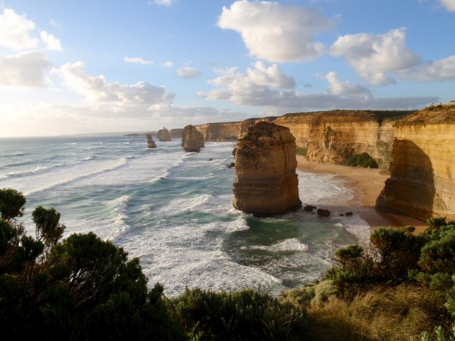The Twelve Apostles at Sunset, one of the most popular sights along the Great Ocean Road