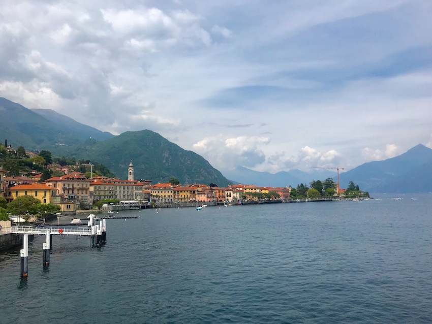 If you take the ferry, you'll arrive at the terminal during a half day in menaggio