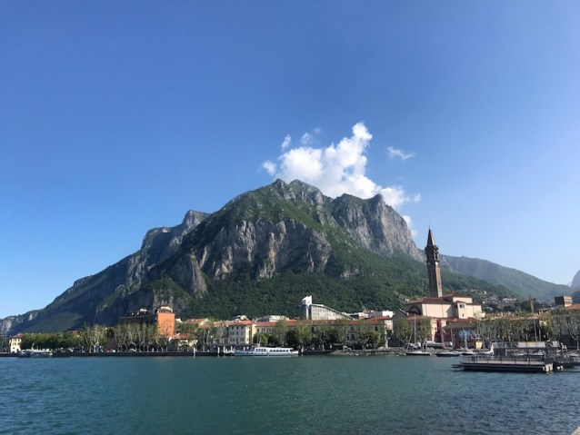 The lakeside town of Lecco