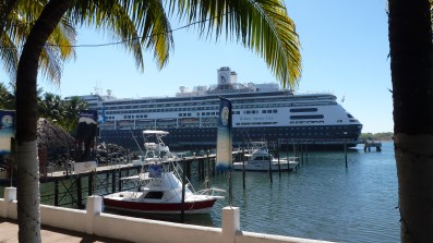 MS Amsterdam docked in Guatemala