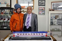 Ahmet, the proud director of Erzurum Railway Museum