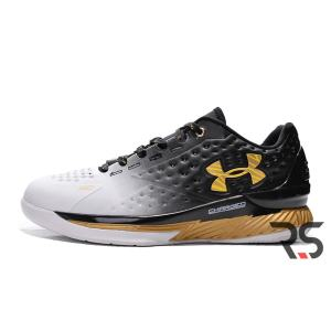 Кроссовки Under Armour Curry 1 MVP Low «Black-white-gold» 2bfee72aca3
