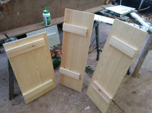 I made these cupboard doors with my bare hands (and a saw and some glue and a few other bits and bobs). I was perhaps a little too pleased with myself.