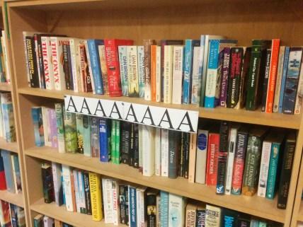 Even the bookshelves are feeling a bit overwhelmed...