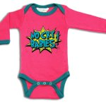 pink babygrow vest advertising web content writing services of UK freelance coywriter