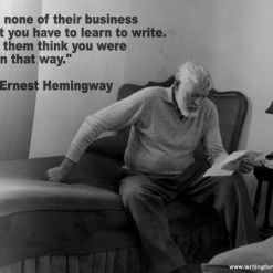 photograph of writer ernest hemingway who inspires people who want to become a copywriter