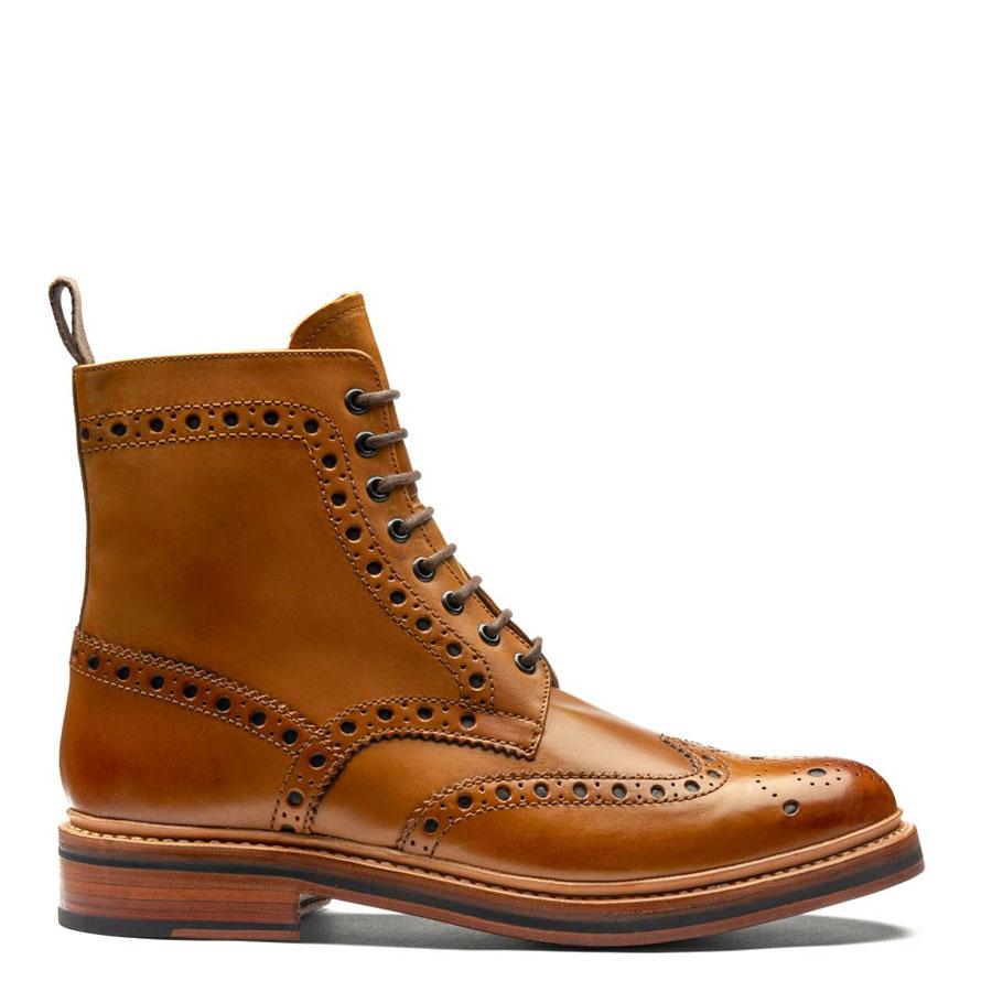 5a8a1e0c23c Grenson Fred Brogue Boot Tan Men's