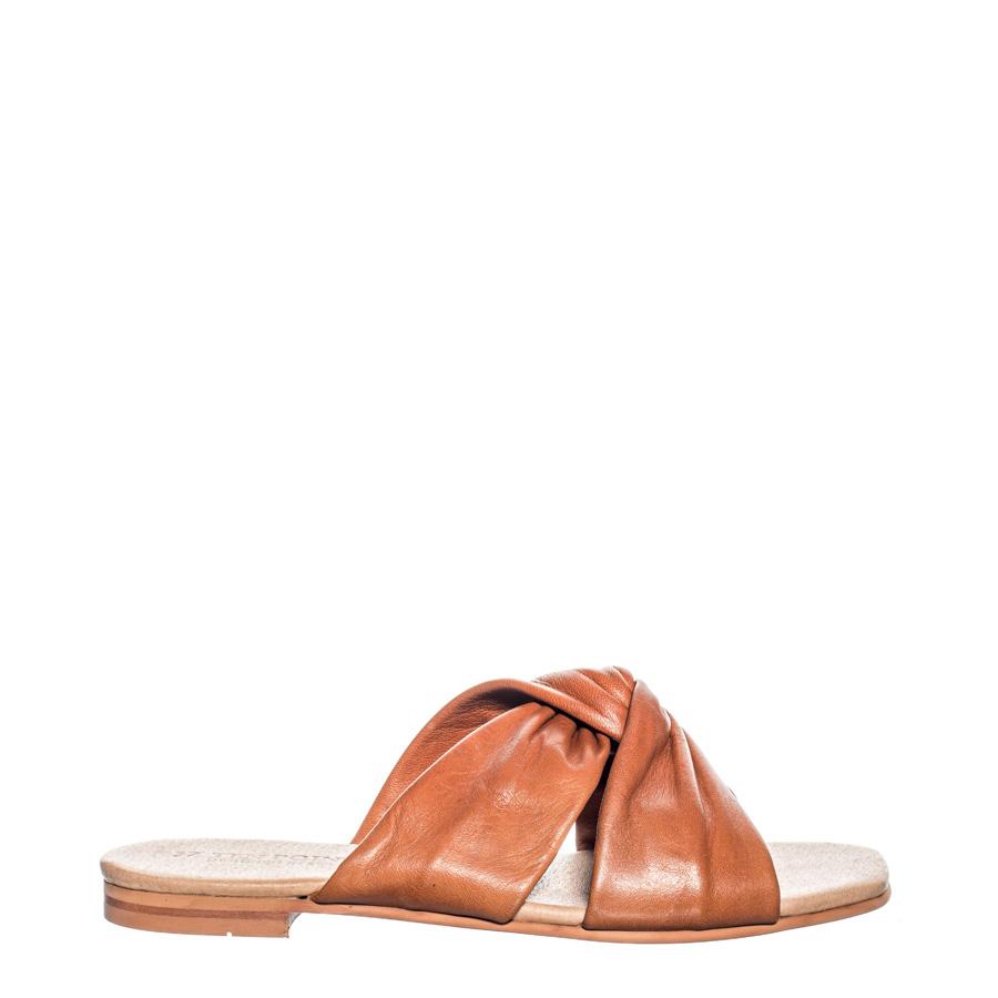 330861e49fe3 Ten Points Madeleine Brushed Leather Twist Cognac Women s – Rowan Sky