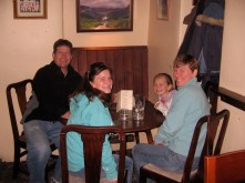 Dinner at The King's Arms pub in Reeth near the Grinton Lodge