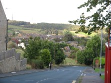 Half way up Moor Hill looking back