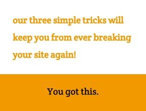 update your own website