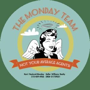 Monday Team Roll Stickers 3x3 blue