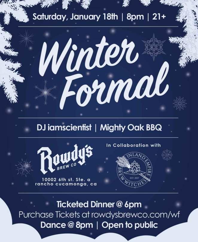 Rowdy's Winter Formal Flyer
