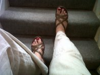Sometimes the only thing to photograph is my feet after a birthday pedicure