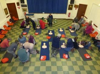 CPR training 1