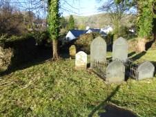 Baptist graveyard with Tal y Fan in the distance