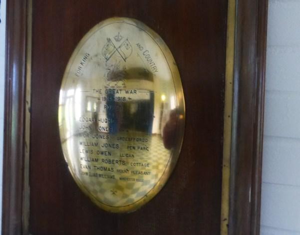 Memorial in Rowen Memorial Hall