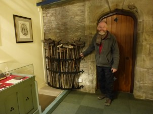 Old crutches at St. Winifride's Well