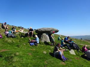 Maen y Bardd burial chamber, May 2018. Pic from Clwydian Ramblers