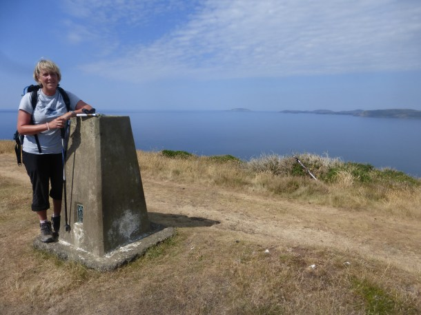 Jane at trig point