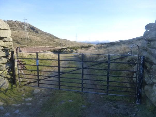 New gate in Bwlch y Ddeufaen