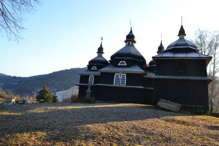 Boczna ściana cerkwi Opieki Bogurodzicy