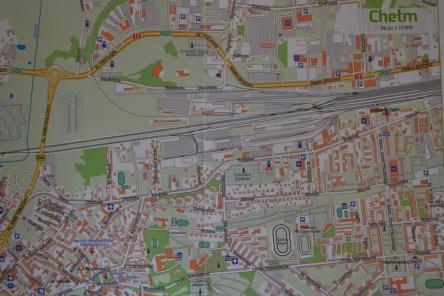 mapka Chełma w skali 1:10 000
