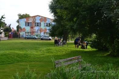 gminny plac nad rozlewiskiem Sprewy