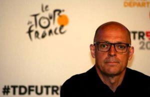 Dave Brailsford podczas konferencji prasowej na starcie Tour de France 2015