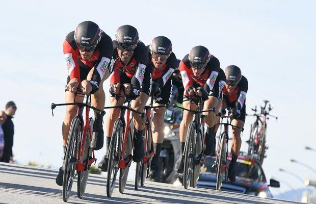 BMC Racing Team na trasie jazdy drużynowej