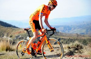 Jan Hirt na rowerze