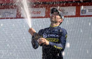 Michele Albasini na podium Wyścigu Dookoła Kraju Basków