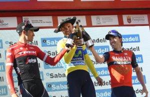 Alejandro Valverde na podium Vuelta al Pais Vasco.